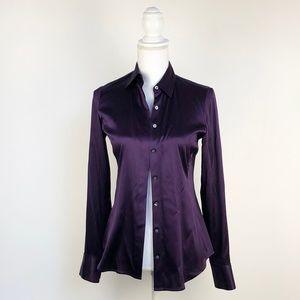 Ann Taylor Purple Silk Button Down Blouse   2
